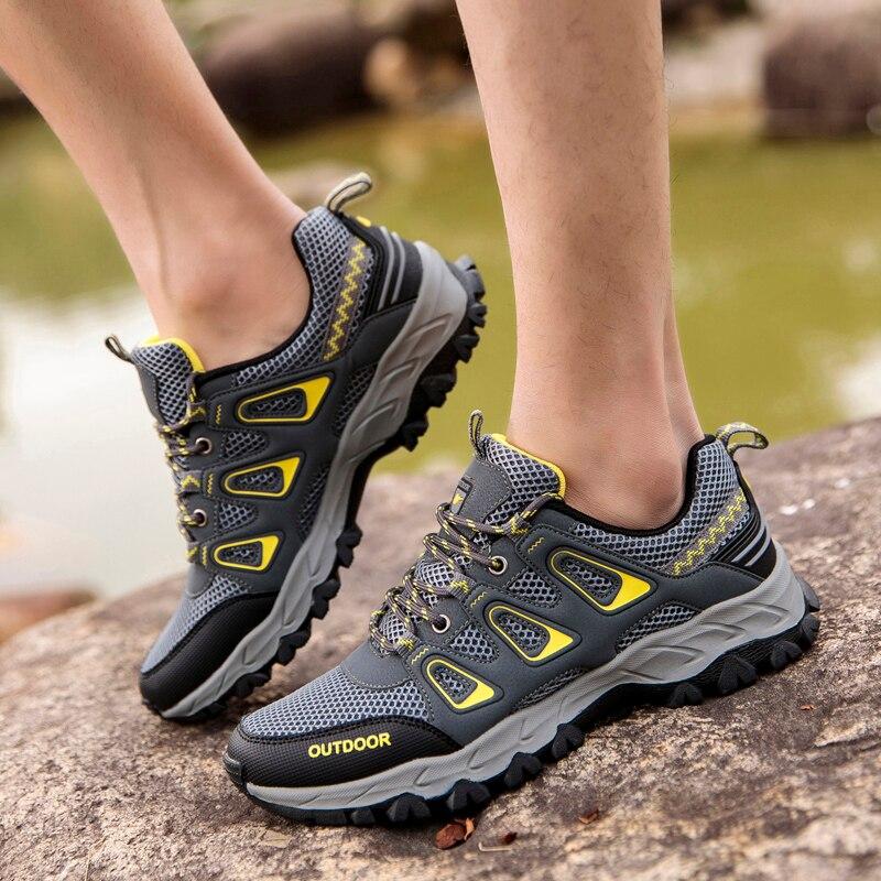 3c1c6cbc7 SHARCPCLAW Дизайнерская обувь Человек Весна Осень на шнуровке Мужская обувь  дышащая повседневная 2019 новая классическая мужская обувь Sepatu Pria