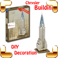 New Year Gift Chrysler Building 3D Puzzle High Rise Building Model Construction Puzzle DIY Toy For Adult Decoration PUZ Game