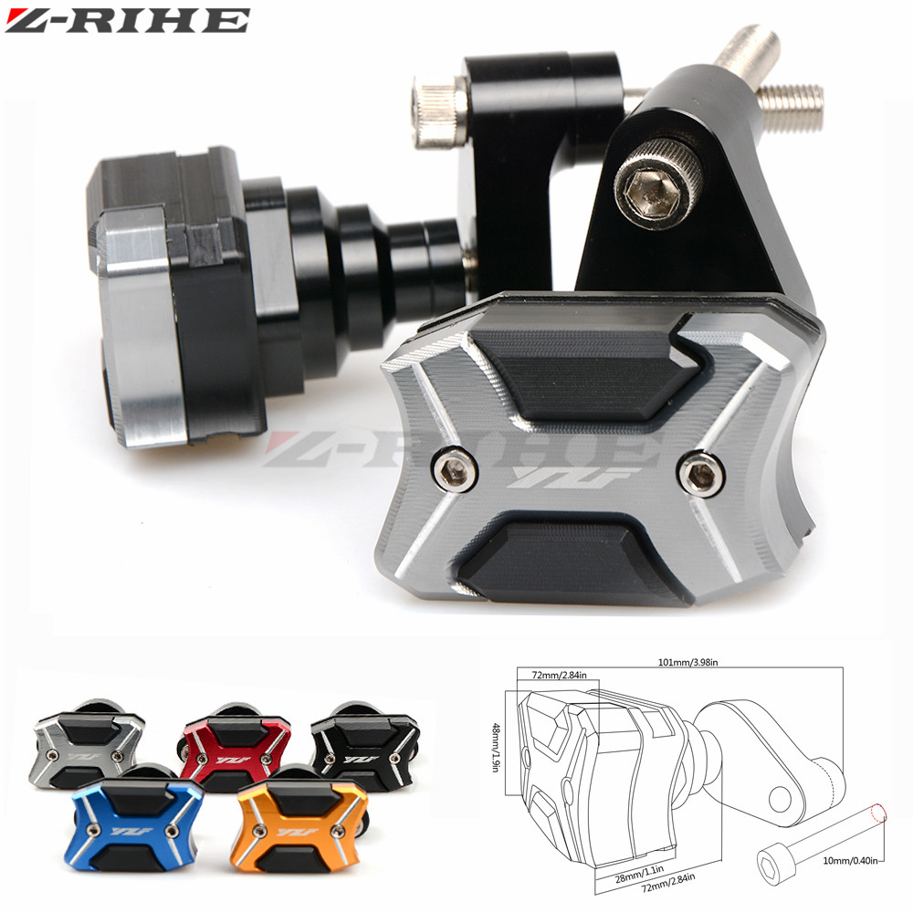 For YAMAHA New Falling Protectors Motorcycle CNC Aluminum Alloy Frame Slider Anti Crash Caps For YAMAHA R6 YZF-R6 YZFR6 09-2016
