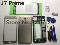 Full Housing cover case Middle frame Battery door+LCD panel glass+Sticker For Samsung Galaxy J7 Prime ON7 2016 G6100 G610F