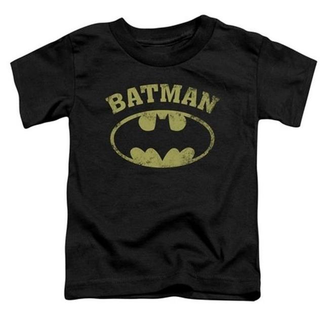 Trevco Batman-Over Symbol – Short Sleeve Toddler Tee – Black Small 2T