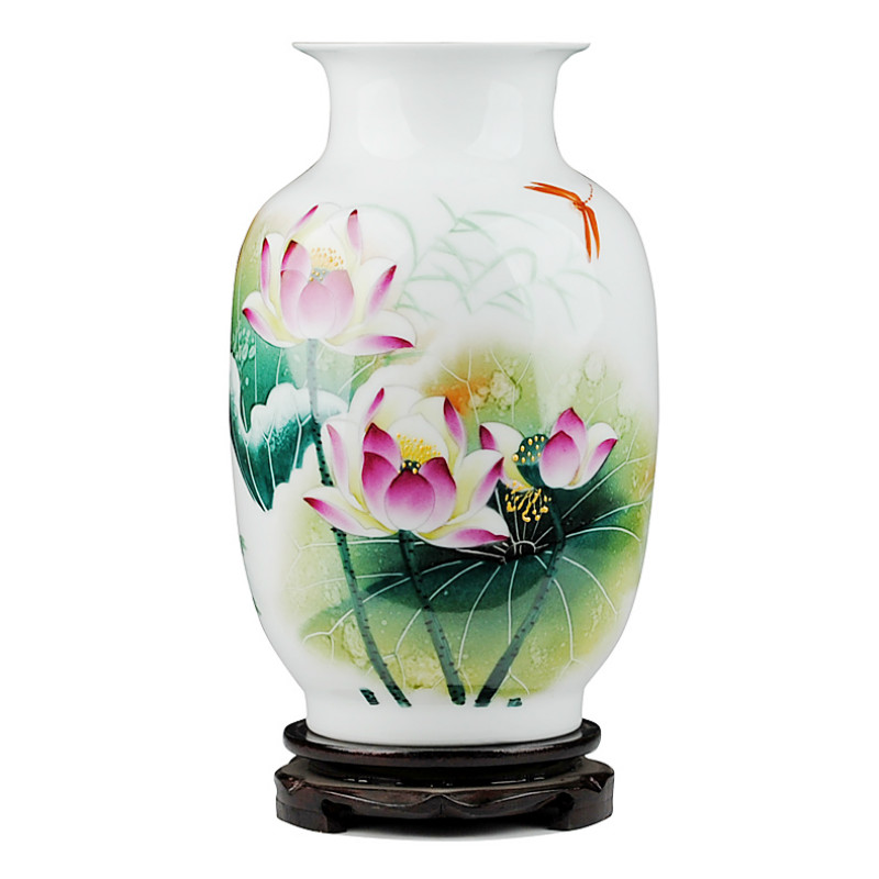 Jingdezhen Ceramic Vase Han Pinghui Celebrity Name Master hand painted porcelain vases Lotus Pond Vase CollectionJingdezhen Ceramic Vase Han Pinghui Celebrity Name Master hand painted porcelain vases Lotus Pond Vase Collection