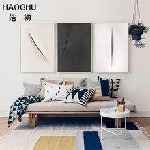 HAOCHU Linha Simples Cartazes e Cópias Da Lona Moderna Pintura Abstrata Pictures for Living Room Decor quadros de parede parágrafo sala