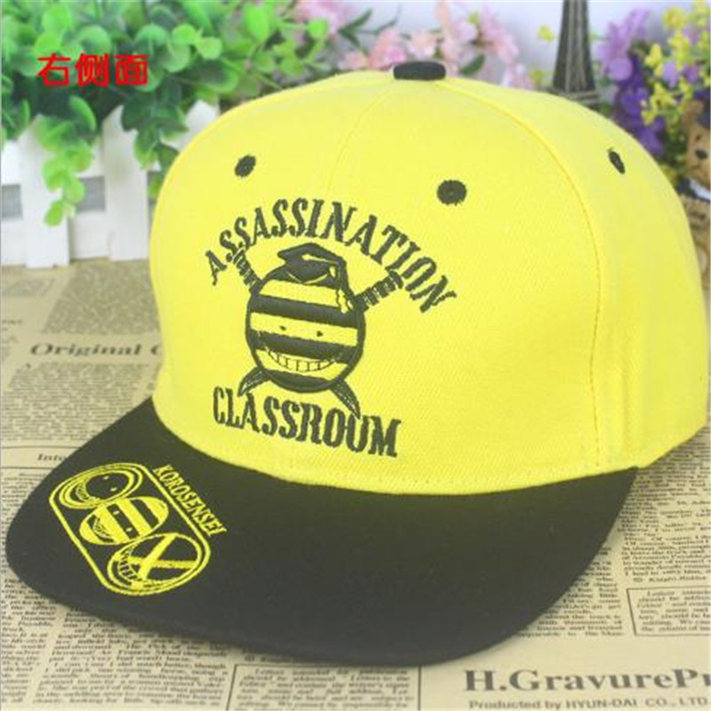 BOOCRE Anime Assassination Classroom Costumes 3D Embroidery Sun Hat Unisex Sunhat Shade Flat Hip Hop Cap
