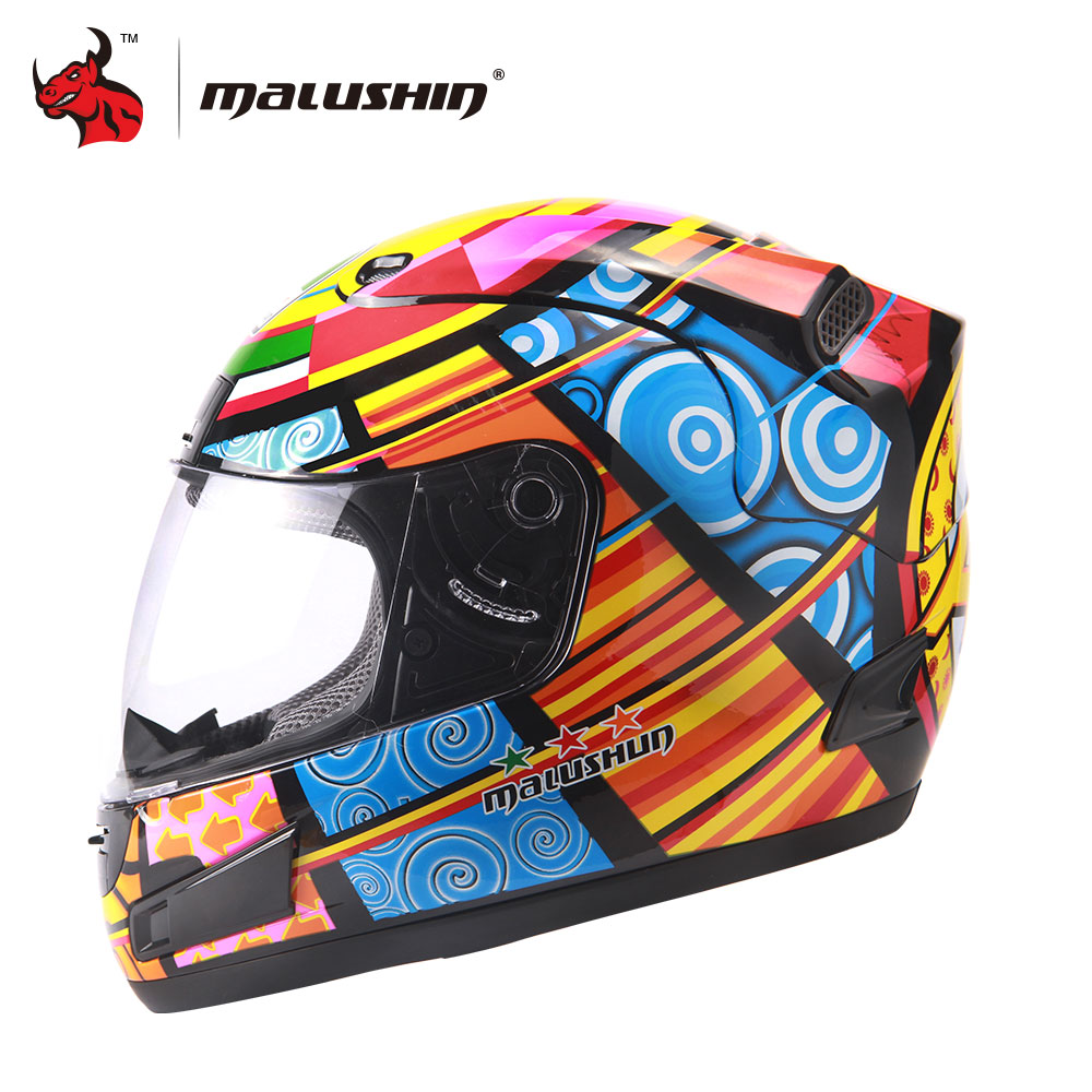 цена на MALUSHUN Men Women Flip Up Motorcycle Helmet Full Face Racing Helmets Moto Capacete Motocross Racing Helmet M/ L/XL/XXL
