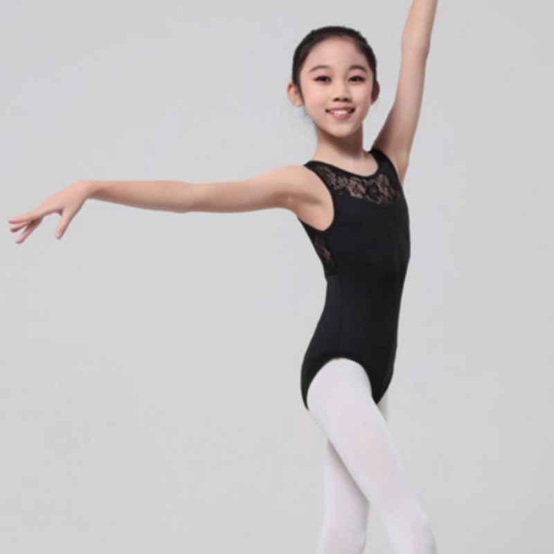 Dziewczyny trykot Lycra koronkowe body z otwartym tyłem baletowe stroje taneczne dla kobiet