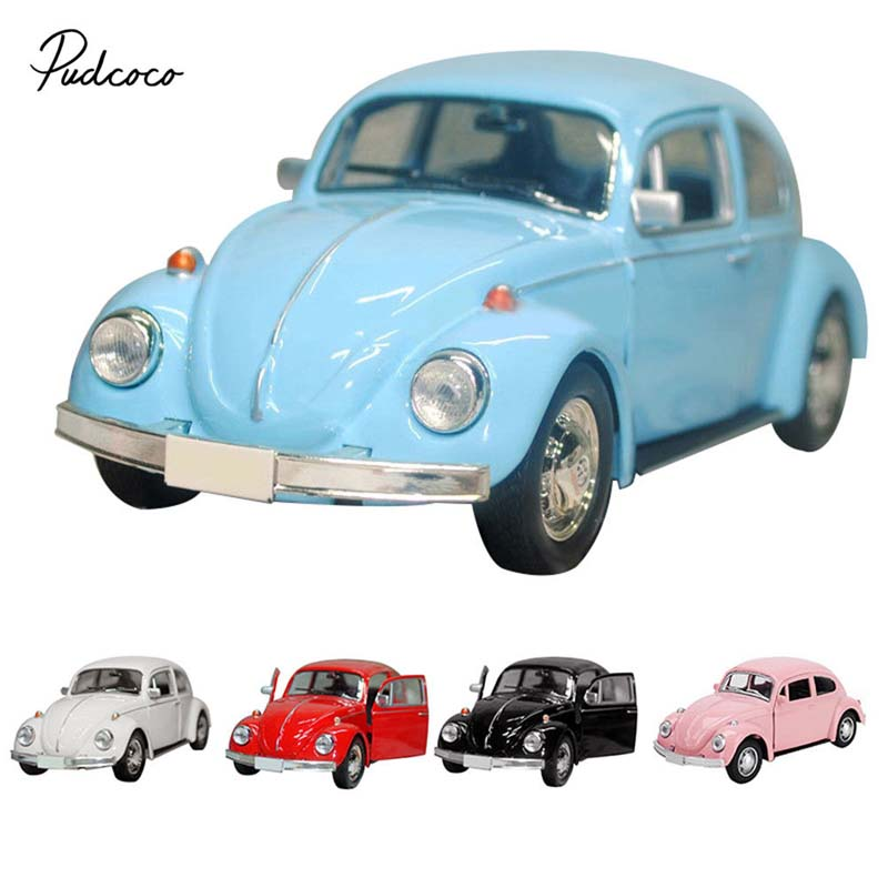 Toy Car-Model Diecast Pull-Back Vintage Beetle Children Figurines For Gift-Decor Cute