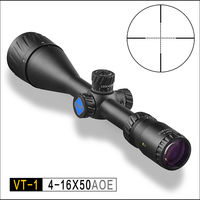Hunting Riflescope DISCOVERY VT 1 4 16X50 AOE with Red &Green Illuminated Mil Dot Reticle Night Vision Rifle Scope rifle optics