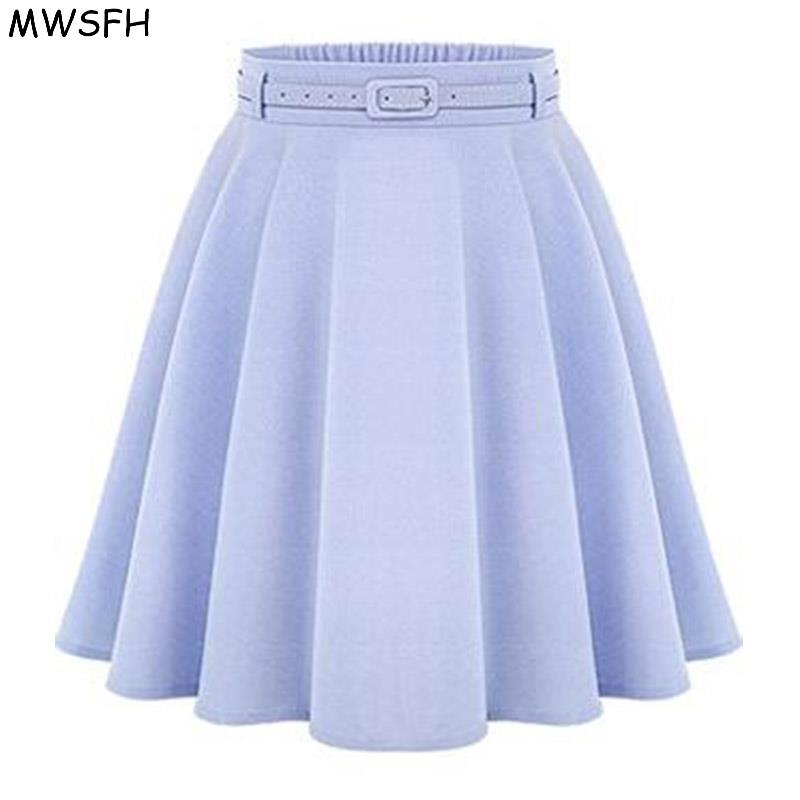 MWSFH Wanita Bottoms Spring Autumn Wanita Long Skirts Feminina Saia Longa Faldas Slim Tutu Ladies Black Light Blue Long Skirts de