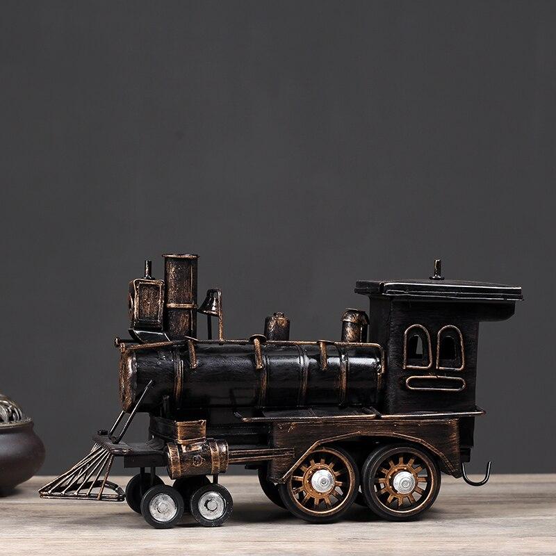 Décoration Hogar Ornements En Métal Locomotive Modèle Salon Meuble TÉLÉ Mobilier Artisanat Jouets en bois lettres