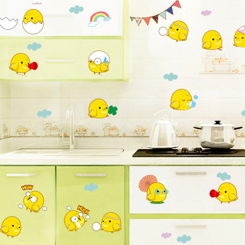 Cute Eggs Chickens Expressions Wall Sticker Decal Home Wall Paper ...