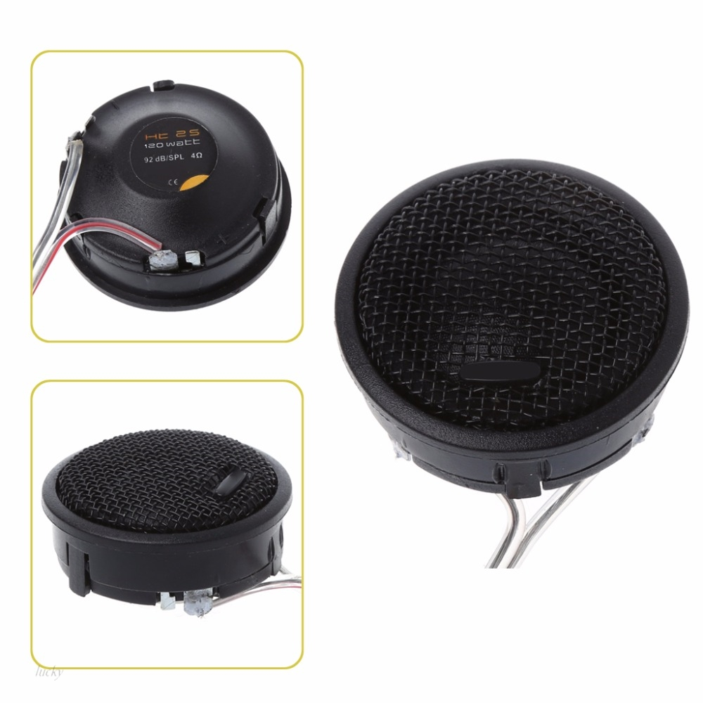 Free Shipping 1 Pair Car Auto Stereo Audio Speaker Tweeter 120W Max Power Loud Dome Speakers 92dB