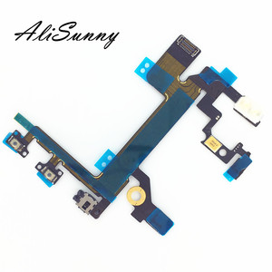 Image 2 - AliSunny  10pcs Power Flex Cable for iPhone 5S Mute Volume Control Button On Off Switch Ribbon With Metal Bracket Repair Parts