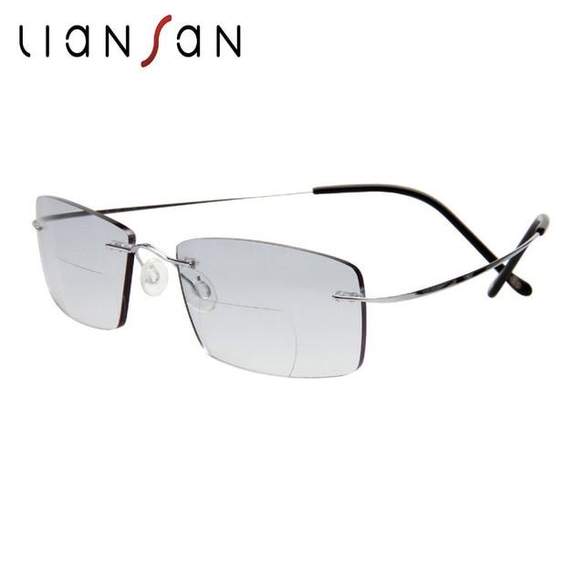 c06a172ae0 Liansan vendimia titanio sin montura bifocales Gafas para leer las mujeres  hombres ligero marca presbyopic hyperopia