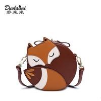 Verkaufsförderung heißer verkauf marke sommer frauen runde cartoon tier fox tasche damen freizeit und schöne das beste geschenk Kupplung