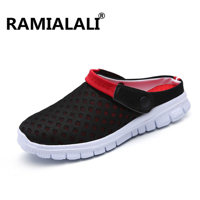 a144f51957b8 Ramialali Summer Beach Sandals Shoes Men Breathable Casual Water Sandals  Water Slippers Shoes Men Slip Ons Big Size 36-47