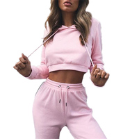 AmberHeard 2017 Spring Autumn Women Long Sleeve Sporting Suit Hoodies Sweatshirt Pant 2 Piece Set Sweatsuit