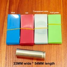 цена на 100pcs/lot Lithium battery special PVC heat shrinkable sleeve 14500 battery skin package insulating sleeve shrink film