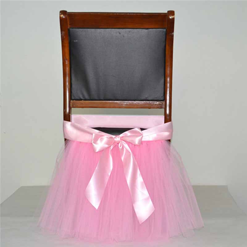 Colorful Tutu Chair Skirt Baby Shower Decorations Wedding Party Chair  Skirts Home Decor Chair Cover Bow