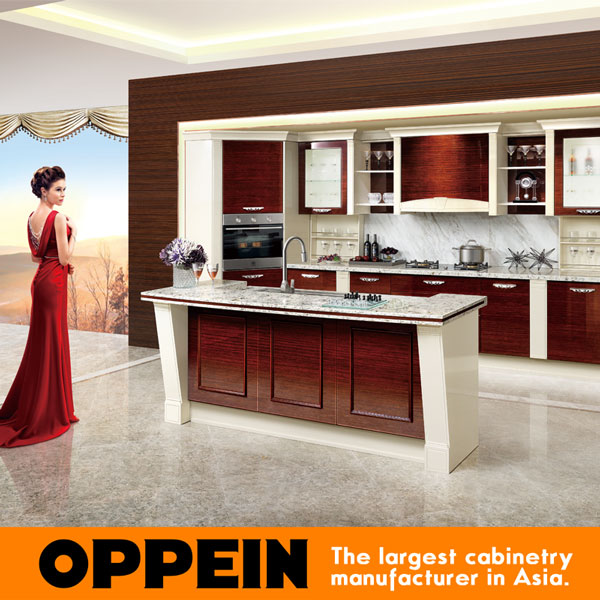 prefab kitchen cabinets sensor faucet cabinet guangzhou design modular solid wood home kitchens op15 057