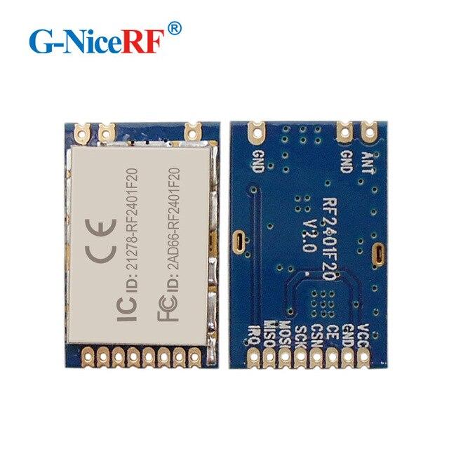 4 pz RF2401F20 Alta Integrato 2.4 ghz RF del Modulo RF Con Nordic Chip nRF24L01 + Per Trasporto Libero