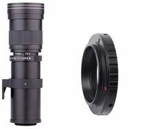 420-800mm F/8.3-16 Super Telephoto Lens Manual Zoom Lens for Canon Nikon Sony Pentax DSLR Camera