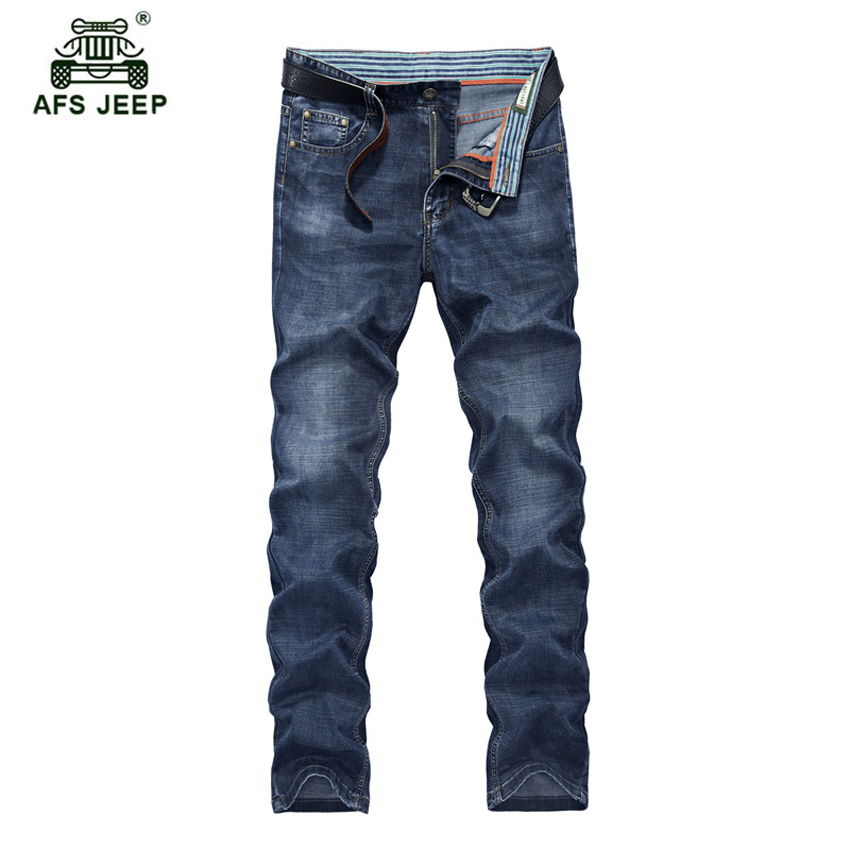 Free shipping Brand hot selling pants Men 's cotton casual jeans Large size straight jeans loose trousers 85yw