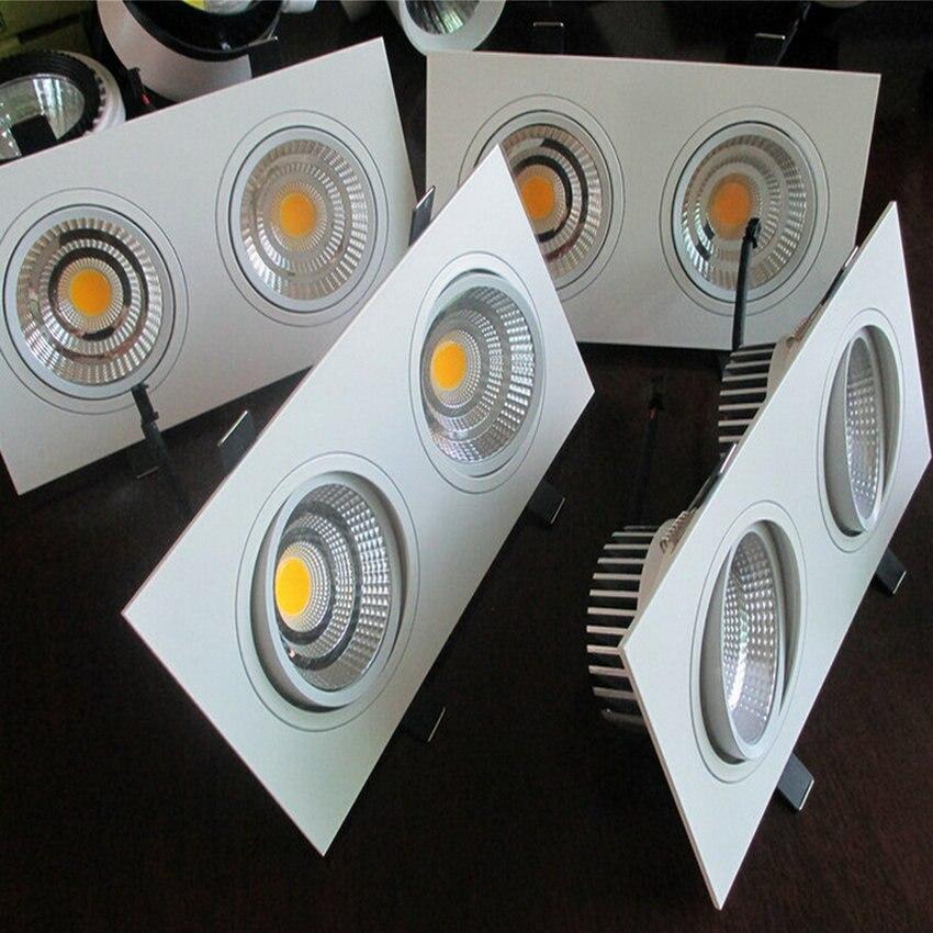 Высокое качество встраиваемые площади двойной Лампы для мотоциклов затемнения 2*10 Вт 2*15 Вт удара светодиодные светильники Алюминий AC110V/ 240 В...