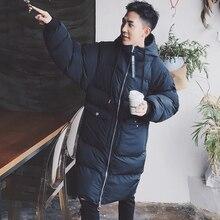 Men Women Winter Hooded Thick Warm Jacket Male Fashion Casual Loose Long Cotton Parkas Coat Overcoat Outerwear
