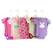 5PCS Baby Girl Rompers Summer Girls Clothing Sets Roupas Bebes Flower Newborn Baby Clothes Cute Baby