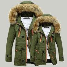 Down Winter Couple Down Jacket 2016 Men's Cotton Blended Coat Zipper Leisure Thick Coat Men's Asian Size 3xl Clothing, Eda131