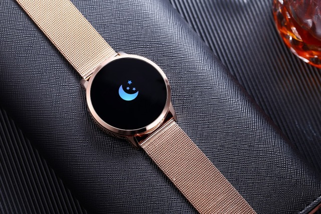 Rundoing Q8 Smart Watch OLED Color Screen Smartwatch women Fashion Fitness Tracker Heart Rate monitor 5