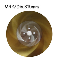 Dia.315mm*2mm HSS Circular M42 Saw Blade with TiN-Coated Iron Pipes Cutter for Industry Use