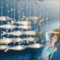 Modern fashion cystal glass pendant light dining room restaurant living room decor flying fish club bar bedroom pendant lamp