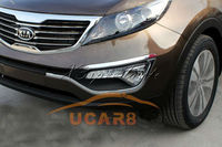 Chromed ABS Plastic Front Fog Eyelid Cover kia 2011 Up Sportage