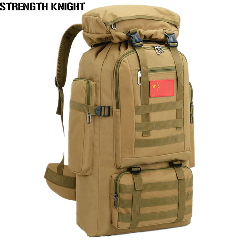 70L Large Capacity Backpack Waterproof Military Tactics Molle Bag Men Backpack Rucksack for Hike Travel Backpacks Mochila 70l internal metal frame molle backpack rucksack water resistant bags 600d camouflage men long distance travel backpack t0071