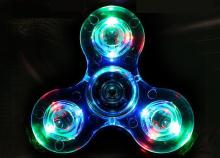 Ant fidget spinner metal adult toy  Luminous LED light hand ring toys for children flash fingertip