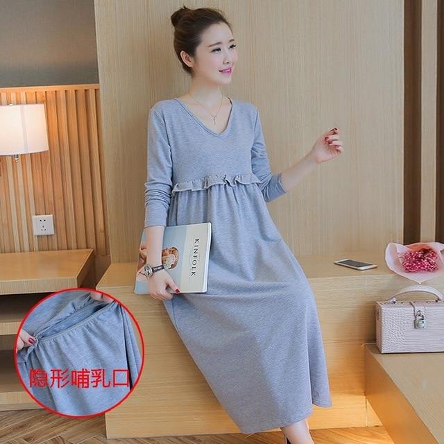 ac31c2e8f95aa Afei Tony High Quality Long Maternity Dresses Plus Size Pregnant Dress  Winter Maternity Nursing Dress For pregnancy clothes