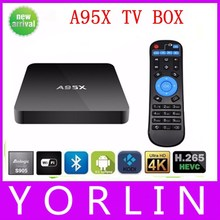 2PCS A95X Android TV BOX S905 Quad Core 1080P 1G/8G Android 5.1 WIFI Smart Media Player KODI Pre-installed