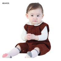 Milancel Summer Infant Boys Knitted Rompers Solid Newborn Baby Clothes Toddler Boys Girls Short Sleeve Romper