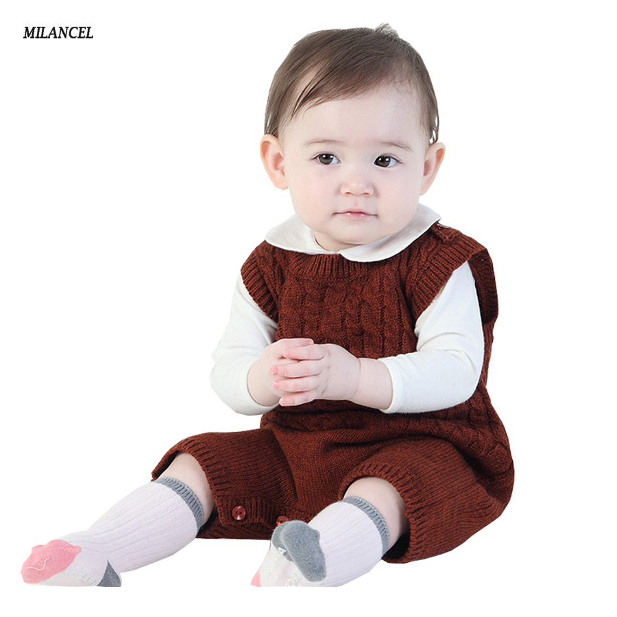 Milancel Summer Infant Boys Knitted Rompers Solid Newborn Baby Clothes Toddler Boys Girls Short Sleeve Romper Summer Jumpsuit newborn baby rompers baby clothing 100% cotton infant jumpsuit ropa bebe long sleeve girl boys rompers costumes baby romper
