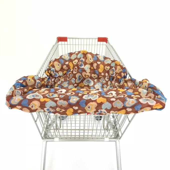 Младенческий супермаркет корзина для покупок, чехол для детского сиденья, анти-грязный чехол, детское сиденье для путешествий, подушка, не грязный, портативный - Цвет: Chocalote