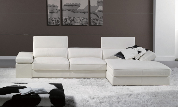 Free Shipping 2013 Modern French Design Genuine Leather L Shaped Corner Sofa Best living room the sofa LA066 u best design corner sofa inspired by florence knoll left angle imitation leather or real leather modern living room sofa