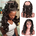 7A Pre Plucked Frontal 360 Lace Virgin Hair With Baby Hair Natural Hair Line Brazilian Body Wave 360 Lace Frontal Human Hair