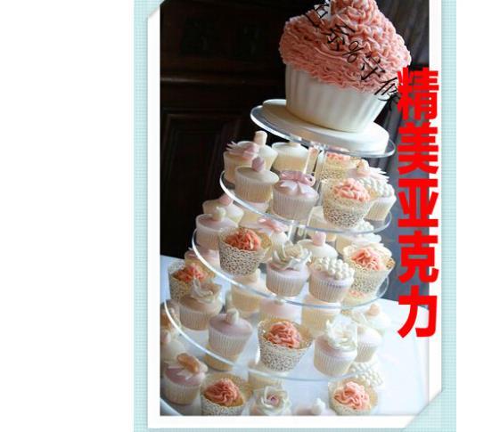 Package 5 exquisite and elegant Korean plexiglass acrylic cake stand ...