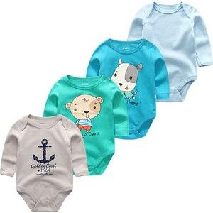 Image 2 - 新生児服ロンパース幼児衣装男の子服長袖綿3 12m幼児パジャマropaデベベ