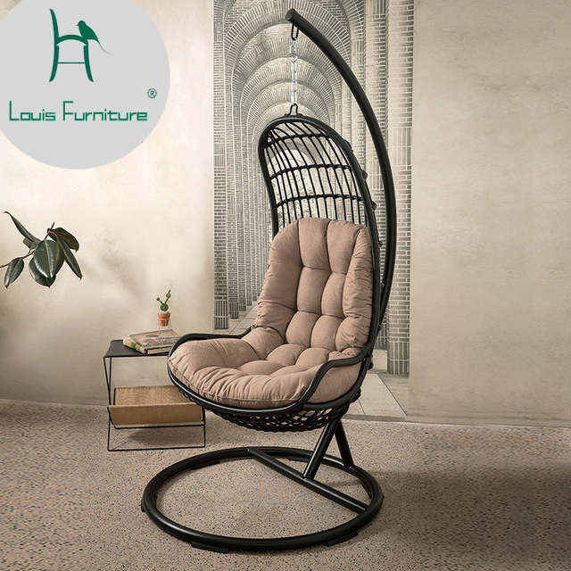 Astounding Us 550 0 Louis Fashion Kuka Concise Rattan Chair Outdoor Leisure Living Room Balcony Creative Basket In Chaise Lounge From Furniture On Aliexpress Machost Co Dining Chair Design Ideas Machostcouk