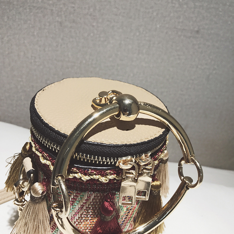 535660c77ab1d Tasche 2019 Mädchen Mode Frauen Hand Kleine Der Weibliche Quaste red Eimer  Neue Messenger Damen Gewebt Mini blue Taschen Beige Handtasche ...