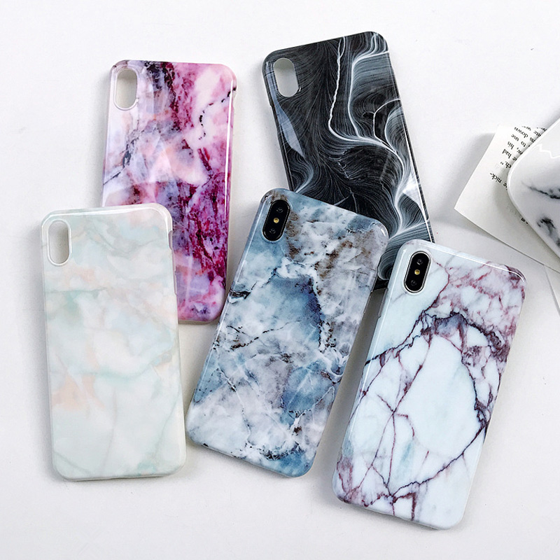 VBNM Marmor Fall Für iPhone X XR XS Max 7 8 Plus Fall Weiche Silikon TPU Matte Abdeckungs-fälle Für iPhone 8 7 6 6 s Plus Zurück Capa
