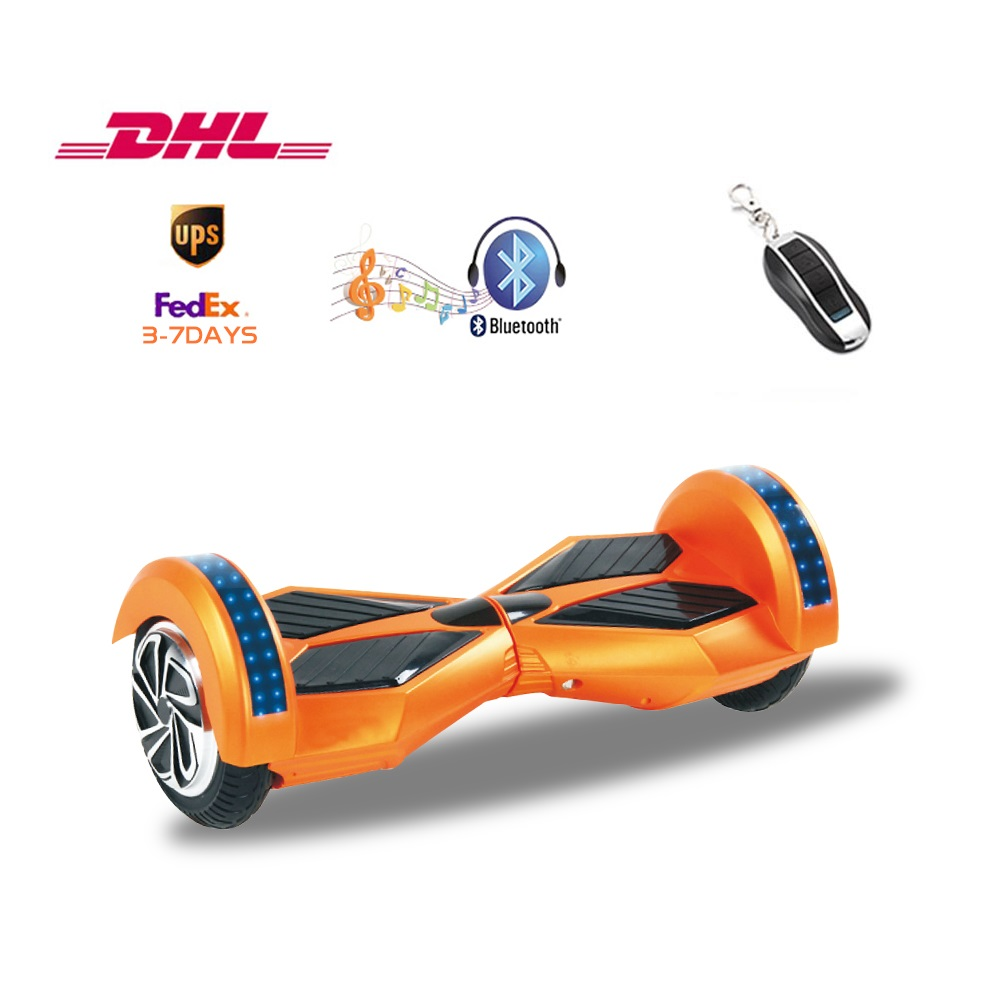 Bluetooth Self Balancing Electric Scooter 2 Wheels Hoverboard With Colors Light 8 Inch Smart Ul2272 3 Days Delivery